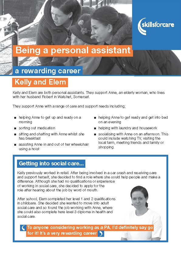 Hear from individuals who employ their own personal assistants