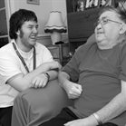 care worker and person who needs care and support